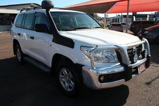 2013 Toyota Landcruiser VDJ200R MY13 GX Glacier White 6 Speed Sports Automatic Wagon.