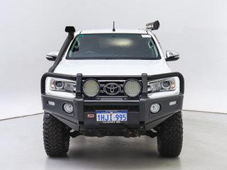 2016 Toyota Hilux GUN126R SR5 (4x4) White 6 Speed Manual Dual Cab Utility.