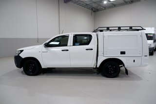 2017 Toyota Hilux TGN121R Workmate Double Cab 4x2 White 6 Speed Sports Automatic Utility