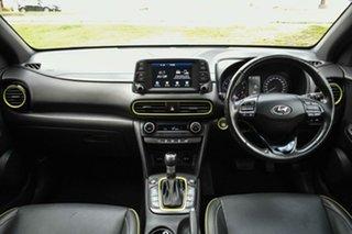 2017 Hyundai Kona OS MY18 Highlander D-CT AWD Acid Yellow 7 Speed Sports Automatic Dual Clutch Wagon.