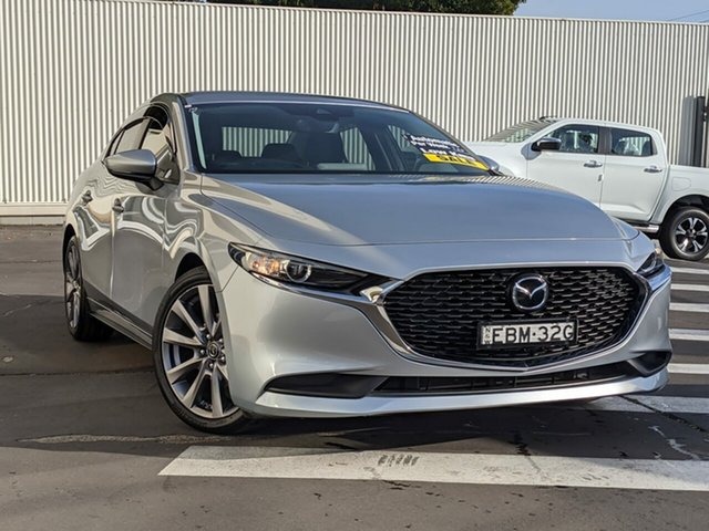 Used Mazda 3 BP2S7A G20 SKYACTIV-Drive Evolve Wollongong, 2019 Mazda 3 BP2S7A G20 SKYACTIV-Drive Evolve Sonic Silver 6 Speed Sports Automatic Sedan