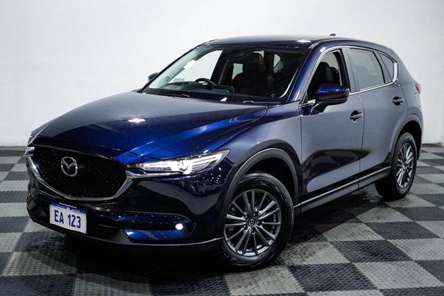 Used Mazda CX-5 KF4WLA Touring SKYACTIV-Drive i-ACTIV AWD Edgewater, 2017 Mazda CX-5 KF4WLA Touring SKYACTIV-Drive i-ACTIV AWD Blue 6 Speed Sports Automatic Wagon