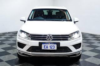 2017 Volkswagen Touareg 7P MY17 150TDI Tiptronic 4MOTION White 8 Speed Sports Automatic Wagon.