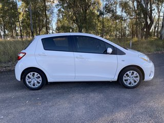 2017 Toyota Yaris NCP130R MY17 Ascent Glacier White 4 Speed Automatic Hatchback.