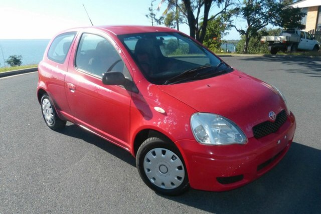 Used Toyota Echo NCP10R MY03 Gladstone, 2005 Toyota Echo NCP10R MY03 Red 5 Speed Manual Hatchback