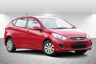 2016 Hyundai Accent RB4 MY17 Active Veloster Red 6 Speed Constant Variable Hatchback.