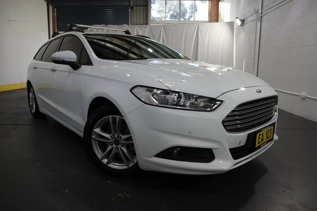 Used Ford Mondeo MD Ambiente Castle Hill, 2016 Ford Mondeo MD Ambiente White 6 Speed Sports Automatic Dual Clutch Wagon