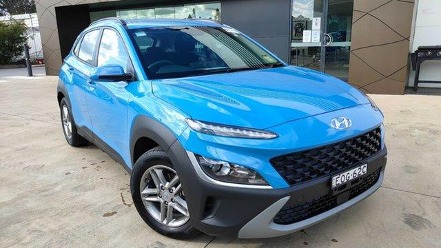 Demo Hyundai Kona Os.v4 MY21 2WD Tuggerah, 2021 Hyundai Kona Os.v4 MY21 2WD Surfy Blue 8 Speed Constant Variable Wagon