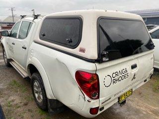 2012 Mitsubishi Triton MN MY12 GLX Double Cab White 4 Speed Automatic Utility.