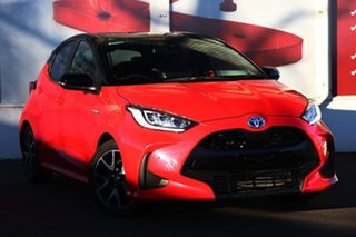 2020 Toyota Yaris Mxph10R ZR Hybrid Coral Rose - Black Roof 1 Speed Constant Variable Hatchback.