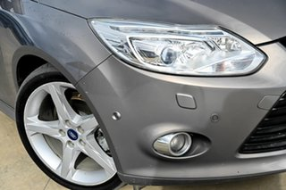 2012 Ford Focus LW MkII Titanium PwrShift Grey 6 Speed Sports Automatic Dual Clutch Hatchback.