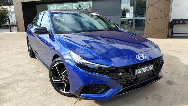 Demo Hyundai i30 CN7.V1 MY21 N Line D-CT Tuggerah, 2021 Hyundai i30 CN7.V1 MY21 N Line D-CT Intense Blue 7 Speed Sports Automatic Dual Clutch Sedan