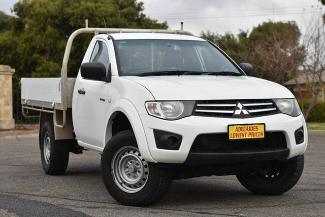 Used Mitsubishi Triton MN MY15 GLX Enfield, 2015 Mitsubishi Triton MN MY15 GLX White 5 Speed Manual Cab Chassis