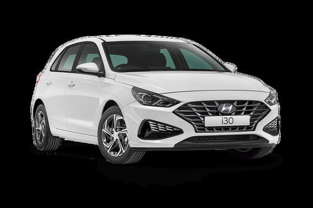 New Hyundai i30 PD.V4 MY21 Hamilton, 2021 Hyundai i30 PD.V4 MY21 Polar White 6 Speed Sports Automatic Hatchback