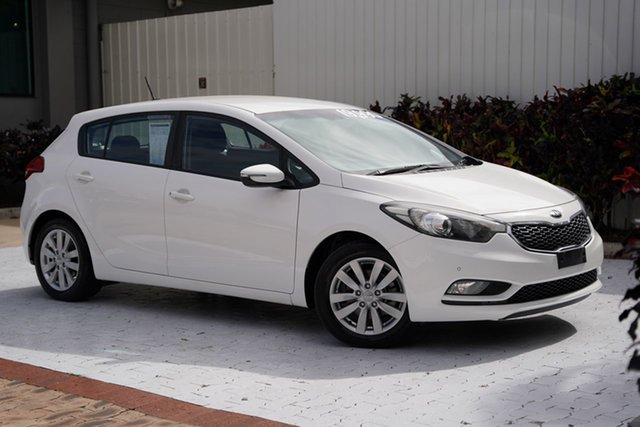 Used Kia Cerato YD MY15 S Premium Cairns, 2015 Kia Cerato YD MY15 S Premium White 6 Speed Sports Automatic Hatchback