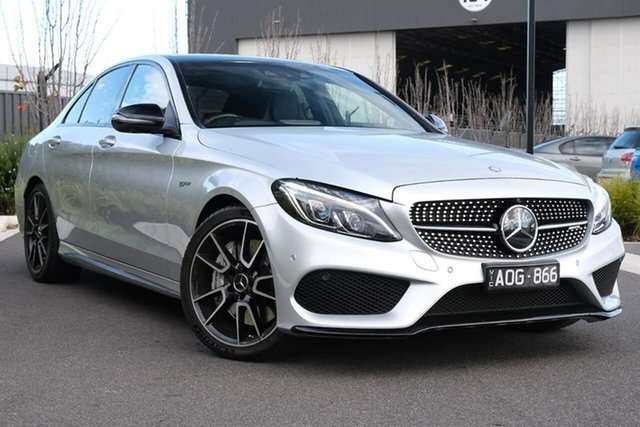Used Mercedes-Benz C-Class W205 807+057MY C43 AMG 9G-Tronic 4MATIC Essendon Fields, 2017 Mercedes-Benz C-Class W205 807+057MY C43 AMG 9G-Tronic 4MATIC Silver 9 Speed Sports Automatic