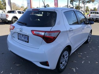 2019 Toyota Yaris NCP130R Ascent Glacier White 4 Speed Automatic Hatchback