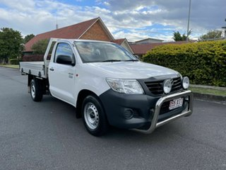 2015 Toyota Hilux TGN16R Workmate White 5 Speed Manual Single Cab.