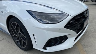 2021 Hyundai Sonata DN8.V1 MY21 N Line DCT White Cream 8 Speed Sports Automatic Dual Clutch Sedan.