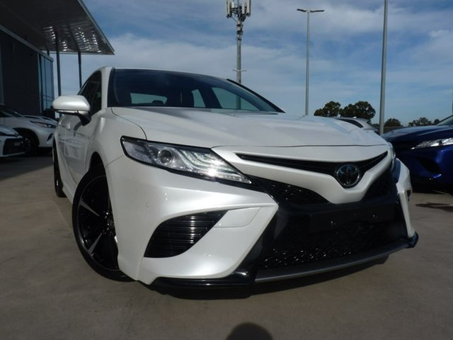 Pre-Owned Toyota Camry GSV70R SX Blacktown, 2020 Toyota Camry GSV70R SX Frosted White 8 Speed Sports Automatic Sedan
