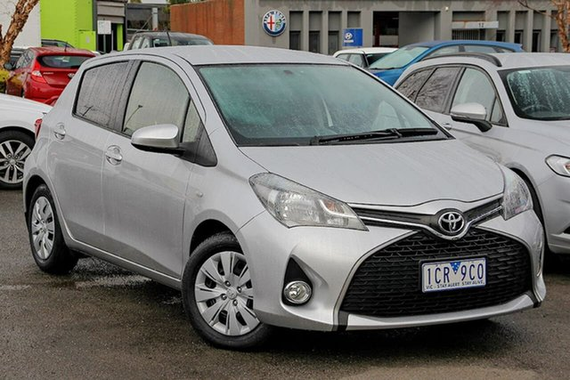 Used Toyota Yaris NCP131R SX Nunawading, 2014 Toyota Yaris NCP131R SX Silver 4 Speed Automatic Hatchback