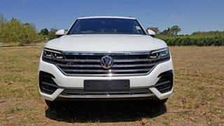 2021 Volkswagen Touareg CR MY21 210TDI Tiptronic 4MOTION R-Line Pure White 8 Speed Sports Automatic.