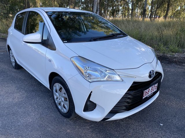 Pre-Owned Toyota Yaris NCP130R MY17 Ascent Chinchilla, 2017 Toyota Yaris NCP130R MY17 Ascent Glacier White 4 Speed Automatic Hatchback