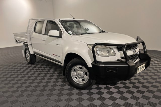 Used Holden Colorado RG MY13 LX Crew Cab Acacia Ridge, 2013 Holden Colorado RG MY13 LX Crew Cab White 6 speed Automatic Cab Chassis