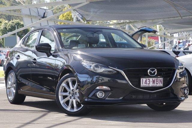 Used Mazda 3 BM5238 SP25 SKYACTIV-Drive GT Bundamba, 2015 Mazda 3 BM5238 SP25 SKYACTIV-Drive GT Black 6 Speed Sports Automatic Sedan