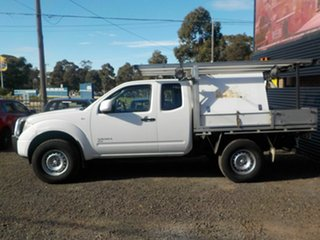 2013 Nissan Navara D40 MY12 RX (4x4) White 5 Speed Automatic Dual Cab Chassis