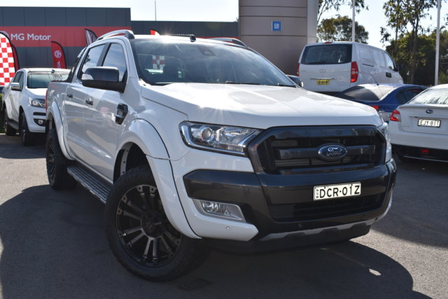 Used Ford Ranger PX MkII Wildtrak Double Cab Tuggerah, 2016 Ford Ranger PX MkII Wildtrak Double Cab White 6 Speed Sports Automatic Utility
