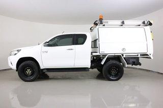 2016 Toyota Hilux GUN126R SR (4x4) White 6 Speed Manual X Cab Utility