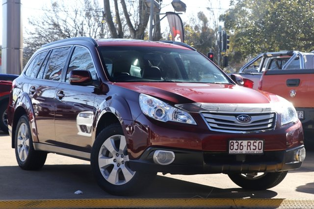 Used Subaru Outback B5A MY11 2.5i Lineartronic AWD Premium Toowoomba, 2011 Subaru Outback B5A MY11 2.5i Lineartronic AWD Premium Red 6 Speed Constant Variable Wagon