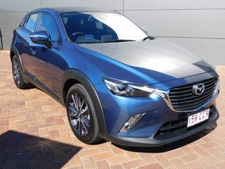 2018 Mazda CX-3 DK2W7A sTouring SKYACTIV-Drive FWD Blue 6 Speed Sports Automatic Wagon.