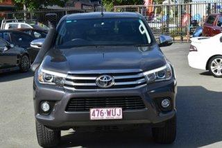 2016 Toyota Hilux GUN126R SR5 (4x4) Grey 6 Speed Automatic Dual Cab Utility.