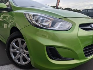 2013 Hyundai Accent RB Active Green 5 Speed Manual Hatchback.