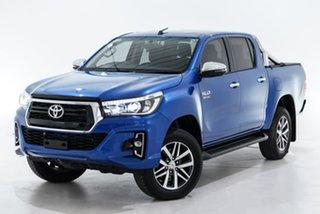 2019 Toyota Hilux GUN126R SR5 Double Cab Blue 6 Speed Sports Automatic Utility.