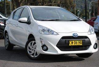 2012 Toyota Prius c NHP10R i-Tech E-CVT White 1 Speed Constant Variable Hatchback Hybrid.