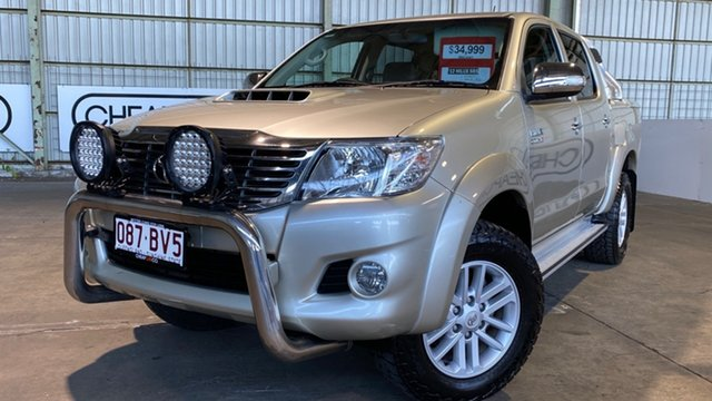 Used Toyota Hilux KUN26R MY12 SR5 Double Cab Rocklea, 2012 Toyota Hilux KUN26R MY12 SR5 Double Cab Gold 4 Speed Automatic Utility