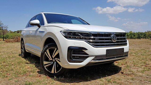 New Volkswagen Touareg CR MY21 210TDI Tiptronic 4MOTION R-Line Tanunda, 2021 Volkswagen Touareg CR MY21 210TDI Tiptronic 4MOTION R-Line Pure White 8 Speed Sports Automatic