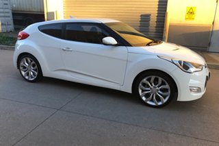 2011 Hyundai Veloster FS Coupe D-CT White 6 Speed Sports Automatic Dual Clutch Hatchback.