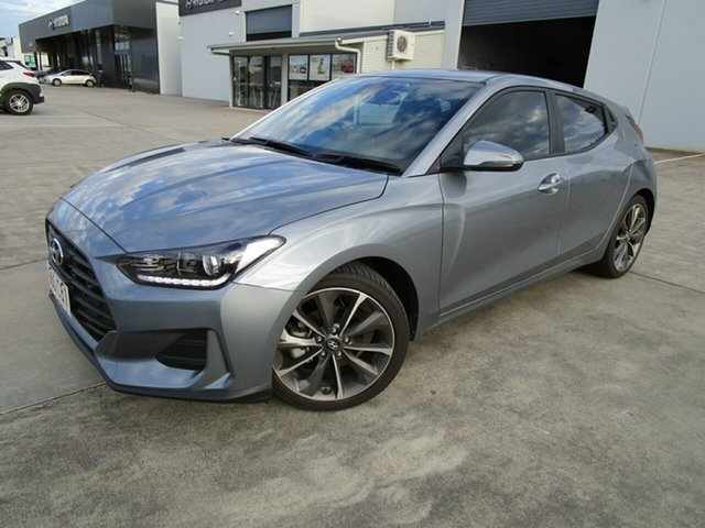 Used Hyundai Veloster JS MY20 Coupe Caboolture, 2019 Hyundai Veloster JS MY20 Coupe Silver 6 Speed Automatic Hatchback