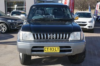 1998 Toyota Landcruiser Prado VZJ95R VX Grande Black 4 Speed Automatic Wagon.