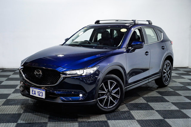Used Mazda CX-5 KF4WLA Akera SKYACTIV-Drive i-ACTIV AWD Edgewater, 2018 Mazda CX-5 KF4WLA Akera SKYACTIV-Drive i-ACTIV AWD Blue 6 Speed Sports Automatic Wagon
