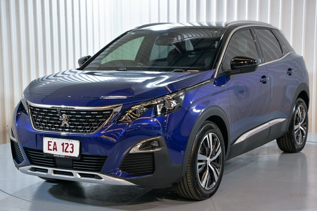Used Peugeot 3008 P84 MY18 GT Line SUV Hendra, 2018 Peugeot 3008 P84 MY18 GT Line SUV Blue 6 Speed Sports Automatic Hatchback