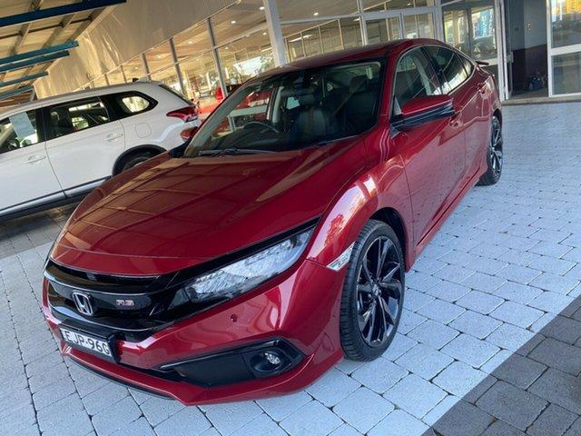 Used Honda Civic MY20 RS Taree, 2020 Honda Civic MY20 RS Red Constant Variable Sedan
