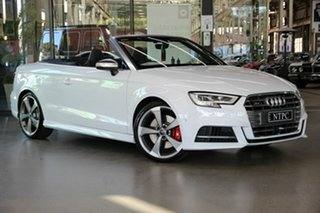 2019 Audi S3 8V MY19 S Tronic Quattro White 7 Speed Sports Automatic Dual Clutch Cabriolet.