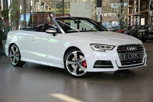 Used Audi S3 8V MY19 S Tronic Quattro North Melbourne, 2019 Audi S3 8V MY19 S Tronic Quattro White 7 Speed Sports Automatic Dual Clutch Cabriolet