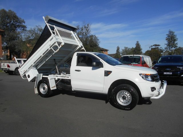 Used Ford Ranger PX XL 3.2 (4x4) Bankstown, 2015 Ford Ranger PX XL 3.2 (4x4) White 6 Speed Manual Cab Chassis