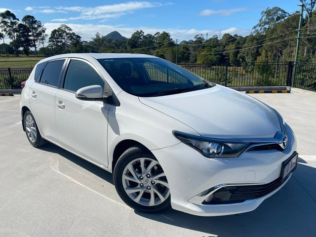Used Toyota Corolla ZRE182R Ascent Sport S-CVT Cooroy, 2017 Toyota Corolla ZRE182R Ascent Sport S-CVT White 7 Speed Constant Variable Hatchback